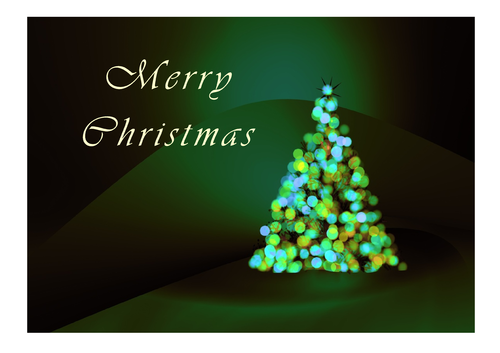 Greeting Card - Christmas Green Tree (DIN A6)
