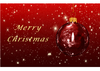 Greeting Card - Christmas Red Ball (DIN A6)