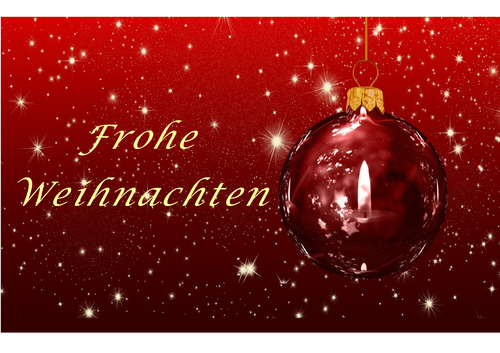 Greeting Card - Weihnachten Rote Kugel (DIN A6)